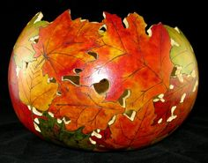 Impossibly beautiful gourd leaf bowl
