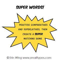 Classroom Freebies: Super Words