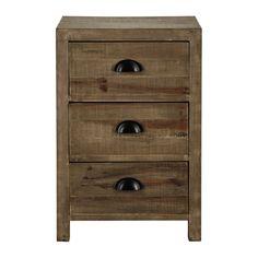 Comodino in legno con cassetto L 40 cm Woodpecker