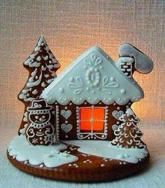 Gingerbread house luminaries