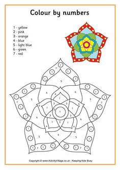 Rangoli colour by number 3