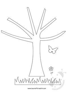 sagome albero farfalle