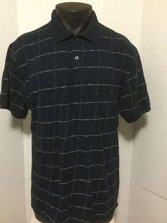Chaps By Ralph Lauren Mens Polo Blue Plaid Checks Short Sleeve 2 Button Size XL #Chaps #PoloRugby