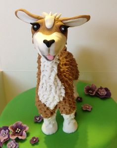 Llama Cake Topper edible fondant icing by NicolePeglerCakeArt