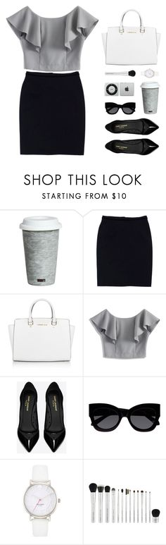 """""""Monochrome"""" by sweetpastelady ❤ liked on Polyvore featuring Fitz and Floyd, Dolce&Gabbana, Michael Kors, Chicwish, Yves Saint Laurent, Karen Walker and Kate Spade"""
