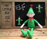 Diy Elf on the Shelf! Free tutorial and PDF template download for this cute little elf!