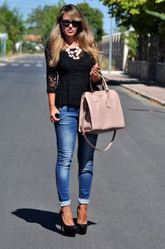 I have a similar top with short sleeves would be cute like this or with nude pumps.