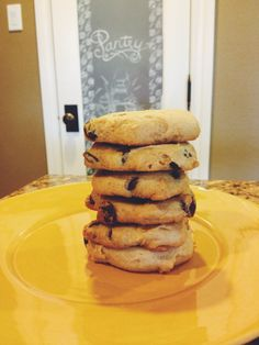 Cookies with Greek yogurt. Can add oats or substitute chocolate chips for craisins