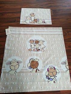 HEDERVIGA / Milé béžové ovečky ... detské posteľné obliečky