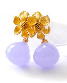 "Purple Quartz Earrings ""Orchid"""
