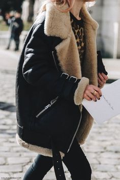 Love an oversized shearling jacket, they're too cool and so warm .... NEW BOHEMIAN INSPIRATION http://ift.tt/2k60YNg //