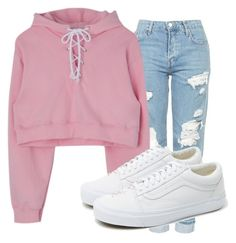 """Easy and Peazy"" by love123-379 ❤ liked on Polyvore featuring Topshop and Vans"