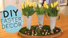 DIY Spring and Easter Centerpiece Display - Home Decor Idea