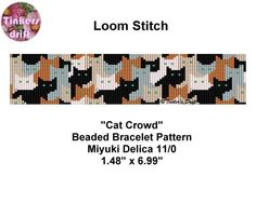 (5) Name: 'Jewelry : Cat Crowd Loom Beading Pattern