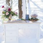 Guest Book Table, Vintage French Provincial Desk, Winter Guest Book Table, French Provincial, Event Photos, French Vintage, Desk, Rustic, Winter, Home Decor, Country Primitive