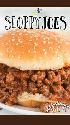 Classic Sloppy Joe Recipe, Homemade Sloppy Joe Recipe, Homemade Sloppy Joes, Sloppy Joes Recipe, Crockpot Sloppy Joe Recipe, Easy Sloppy Joes, Ground Beef Recipes Easy, Beef Recipes For Dinner, Burger Recipes