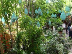 Installation Graines de Pluie à Saint Ouen. Jardin de Camille They  Claude Pasquer