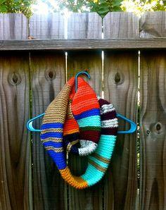 Knit Infinity Scarf. via Etsy.