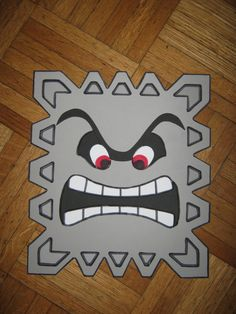 Super Mario - Thwomp custom wall decoration. $9.99, via Etsy.