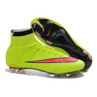 Mercurial Superfly FG Fluorescent Green Kids Soccer Shoes f736b6ac34