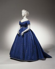Fripperies and Fobs-Evening Dress ca. 1865