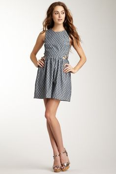 Charlotte Ronson Dress with Cutout Lace Up Detail