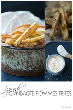 Sprøde hjemmelavede pommes frites i ovn Vegan Scalloped Potatoes, Scalloped Potato Recipes, Good Food, Yummy Food, Recipe Images, Daily Meals, Fritters, Tapas, Cake Recipes