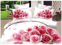 3D Rosa Branca Rose cópia da flor do casamento conjunto de cama queen size capa de edredão roupa de cama colcha folha de cama em um saco de algodão em casa t em Conjuntos de cama de Home & Garden no AliExpress.com | Alibaba Group