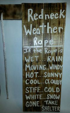 An adorable wooden pallet sign for your porch or backyard to talk about the weather redneck style.  A must have for a southern friends on Etsy, $24.99