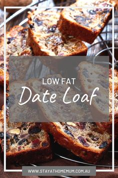 """This Low Fat Date Loaf is my beautiful Mum's recipe. I quite often will have a slab for breakfast in the morning (with loads of butter! I had forgotten how totally mouth watering it is! Healthy Cake, Vegan Cake, Healthy Baking, Healthy Desserts, Easy Desserts, Vegan Food, Loaf Recipes, Baking Recipes, Cake Recipes"