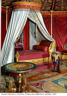 is the Chateau Malmaison, where the very kind and noble Empress Josephine once lived… Viger Jean-Louis Victor La rose de Malmaison.