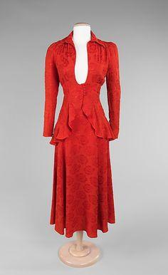 Red suit, Ossie Clark, 1970's.
