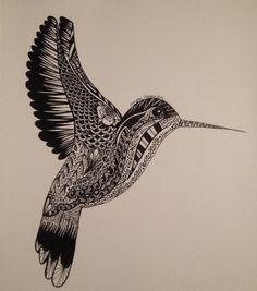 Zentangled Hummingbird by MoMoTheEpic on DeviantArt