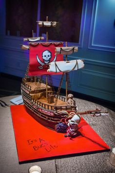Tampa Bay Buccaneers Pirate Ship Cake by Renay Zamora of Sweetface Cakes in Nashville, TN
