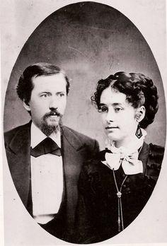 J. Sterling Morton and bride Caroline ......wedding picture .....1854