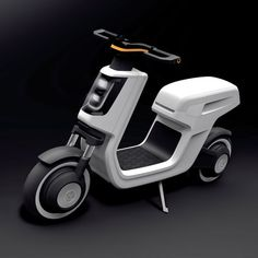 Last week at the Shanghai Auto Show Volkswagen revealed its electric scooter (e Scooter) rental concept. E Bicycle, Scooter Motorcycle, E Scooter, Mini Motorbike, Scooter Design, Motorbike Design, Bicycle Design, Eletric Bike, Volkswagen