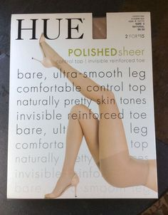 HUE Polished Sheer Control Top Pantyhose