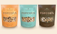 Mrs. Weinstein's packaging - popcorn. Awesome use of patterns and colors. Focus on what the product is with the brand being secondary.