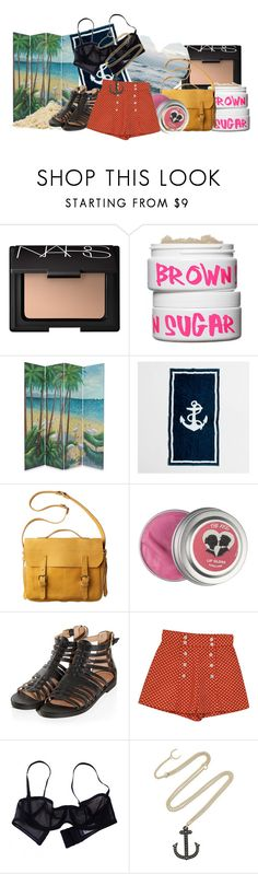 """""""I forgot how much I missed the way, the sun lit up the east coast bays ♪"""" by imnotariot ❤ liked on Polyvore featuring NARS Cosmetics, Nature Girl, J.Crew, Toast, Retrò, Eres and Philip Crangi"""