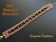 Learn how to make the Cranberry Champagne Bracelet by Fusion Beads Beaded Bracelets Tutorial, Diy Bracelets Easy, Beaded Bracelet Patterns, Woven Bracelets, Seed Bead Bracelets, Jewelry Bracelets, Embroidery Bracelets, Bead Patterns, Beaded Earrings