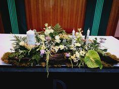 unity spread, altar arrangement, unique bogwood, rustic Church Fashion, Church Ceremony, Altar, Unity, Vip, Rustic, Table Decorations, Weddings, Furniture