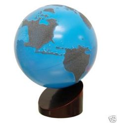 Sandpaper Montessori globe for sensory experience