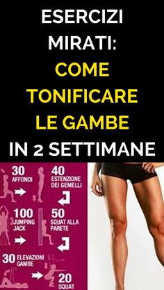 Esercizi Mirati Come Tonificare Le Gambe in 2 Settimane – Fitness training Workout for Beginners Fitness Motivation, Tips Fitness, Planet Fitness Workout, Muscle Fitness, Fitness Diet, Yoga Fitness, Health Fitness, Free Fitness, Dieta Fitness