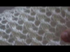 Вязание спицами: красивый ажурный узор для палантина - YouTube