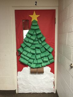 christmas door by mrs londal whca