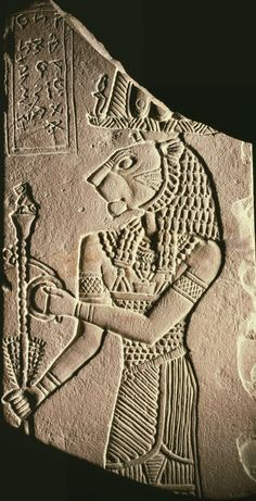 The Ancient EgyptianVotive Plaque of King Tanyidamani, circa 100 BC (Meroitic), medium dark red siltstone, currently located at theWalters Art Museum, USA.