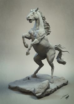ArtStation - Frightened horse v2, gael kerchenbaum