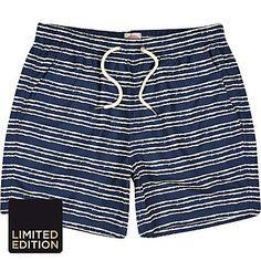 Blue skeleton stripe swim shorts - swim shorts - shorts - men