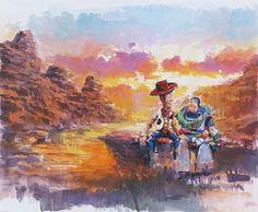 Rodel Gonzalez Original, Buzz and Woody, Disney Fine Art