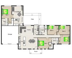 Acreage designs house plans queensland house designs for House plans with granny flat attached